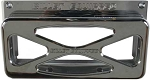 BILLET EQUIPPED STEREO COVER (CHROME)