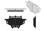 Yoshimura Polaris RZR XP900 11-12 Radiator Roost Guard