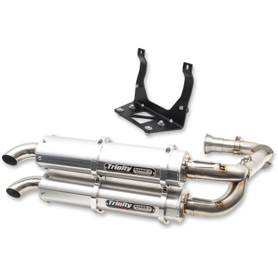 Trinity Racing Stage 5 Exhaust System - Can-Am X3 (BRUSHED)