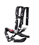 Dragonfire H-Style SFI Approved 5-Point Race Harness BLACK (3