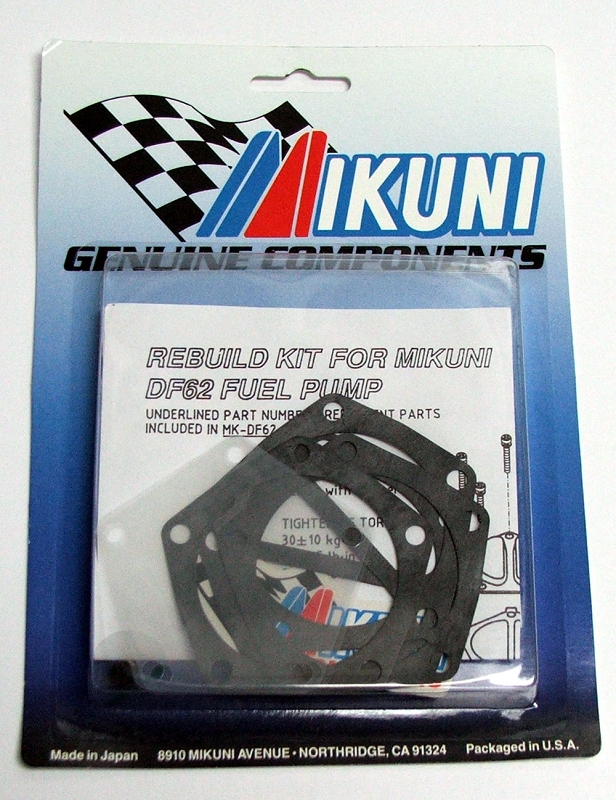 Mikuni High Volume Fuel Pump Rebuild Kit - for Weller Racing Fuel Kit