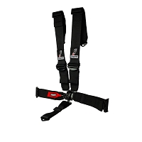 H-Style SFI Approved 5 Point Race Harness Black 3