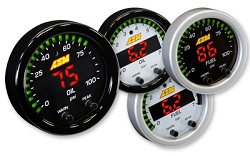 AEM Digital X-Series Oil, Fuel Pressure Gauge