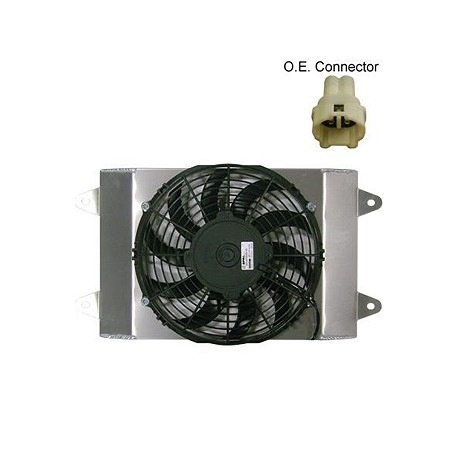 SPAL High Performance Fan with Shroud - Yamaha Wolverine Models