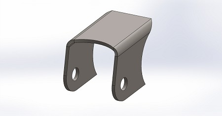 Maverick X3 Rear Trailing Arm Mount Weld in Bracket
